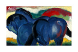 Little Blue Horses, 1911 Impression giclée par Franz Marc