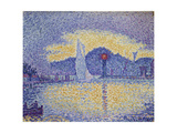 Quay Wall with Lighthouse, 1898 Giclee Print by Paul Signac