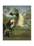 St. George Fighting the Dragon, C. 1505 Giclee Print by  Raffael