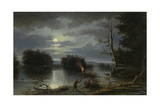 American Indians Stag Hunting by Night, Mississippi, 1863 Giclee Print by Henry Lewis