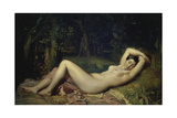 Sleeping Nymph Impression giclée par Theodore Chasseriau