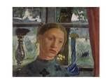 Girl's Head in Front of the Window Giclee Print by Paula Modersohn-Becker