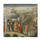 The Procession of St. Gregory at the Mausoleum of Hadrian (Castel Sant'Angelo) in Rome Giclee Print by Paolo Veronese