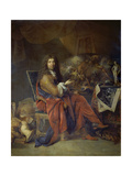 Portrait of Charles Le Brun, Painter to the King, 1686 Giclee Print by Nicolas Lancret