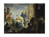 The Meeting of Anthony and Cleopatra, C. 1645 Giclee Print by Sebastien Leclerc