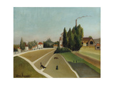 Landscape with Factory (Paysage Avec Usine), C. 1896-1906 Giclee Print by Henri Rousseau