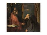 Nicodemus and Christ Giclee Print by Fritz von Uhde