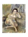Reclining Girl (Jeune Femme Couchée), 1925 Gicleetryck av Jules Pascin