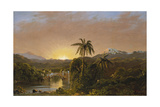 Sunset in Ecuador, 1854 Impression giclée par Frederic Edwin Church