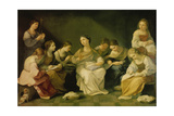 The Youth of Mary, 1610 Giclee Print by Guido Reni