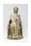 The Virgin Enthroned with Child, around 1230 Giclee Print