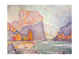 The Cliffs at Castellane, 1902 Giclee Print by Paul Signac