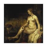 Bathsheba Bathing, 1654 Giclee Print by  Rembrandt van Rijn