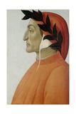 Portrait of Dante Alighieri Lámina giclée por Botticelli, Sandro