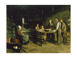 Saying Grace, 1875-1877 Giclee Print by Max Liebermann