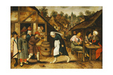 The Egg Dance Giclee Print by Pieter III Brueghel