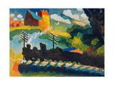 Railway Near Murnau, 1909 Giclee Print