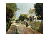 Sunny Village Street Giclee Print by Victor Gabriel Gilbert