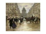 The Boulevard Saint-Michel, Paris, after 1890 Giclee Print by Jean François Raffaelli