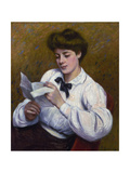Reading a Letter Giclee Print by Federico Zandomeneghi