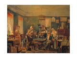 The Card Players, 1850s Giclee Print by Nikolai Petrowitsch Petrow