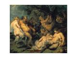 Bacchanal, C. 1615 Giclee Print by Peter Paul Rubens