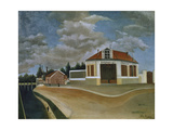 The Chair Factory at Alfortville, 1897 Giclee Print by Henri Rousseau