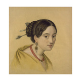 Portrait of a Lady with Hair Decoration Giclee Print by Louise Caroline Seidler