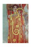 Gustav Klimt - Hygieia, Detail from Medicine, 1900-1907 Digitálně vytištěná reprodukce