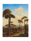 Arabs and Camels at Rest, 1847 Giclee Print by Prosper Marilhat