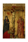 Christ on the Cross with Mary, John and Magdalena Giclée-tryk af Simone Martini