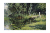 By a Pond, 1880 Giclee Print by Vasily Perov