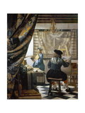 The Art of Painting (The Artist's Studio), C. 1666-68 Giclee Print by Mar Vermeer