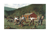 Boys Playing (Snap the Whip) Giclee Print by Winslow Homer