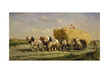 The Hayrick Giclee Print by Jules Jacques Veyrassat