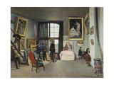 The Artist's Studio, Rue De La Condamine, Paris, 1870 Giclee Print by Frédéric Bazille