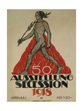 Ausstellung Secession, 1918 Giclee Print