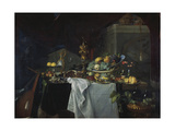 Grand Still-Life with Golden Goblet and Fruit, 1640 Giclee Print by Jan Davidsz. de Heem