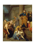 The Death of Sapphira, Wife of Ananius Giclee Print by Sergej Iwanow