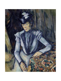 Lady in Blue, 1898-99 Giclee Print by Paul Cézanne