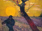 The Sower at Sunset, 1888 Giclée-tryk af Vincent van Gogh