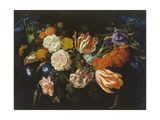 Garland of Flowers and Fruits, First Half of 17th Century Giclee Print by Jan Davidsz. de Heem