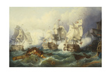 The Battle of Trafalgar Giclee Print by Philipp Foltz
