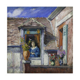 Woman at the Window (Femme a La Fenetre) Giclee Print by Henri Lebasque