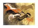 Prancing Horses Giclee Print by Jean Dunand