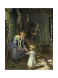The Holy Family Giclee Print by Fritz von Uhde