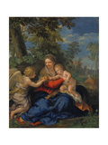 The Holy Family Resting During the Flight into Egypt, C. 1643 Giclee Print by Pietro Muttoni