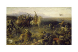 Conquest in the Year 900, Magyars Reaching their Present Day Settlement Area Giclee Print by Moritz Daniel Oppenheim