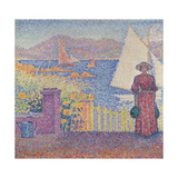 At St. Tropez Giclee Print by Paul Signac