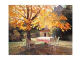 Le jardin d'automne Impression giclée par Victor Charreton